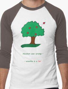 Gravity is a lie Men's Baseball ¾ T-Shirt