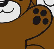 2 bears buddies couple cuddle cuddling team love couple little cute comic cartoon teddy bear baby Sticker