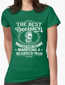 MARRYING A BEARDED MAN Womens Fitted T-Shirt