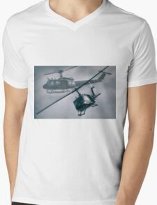 Bell UH-1H Helicopter (Huey 509) Mens V-Neck T-Shirt