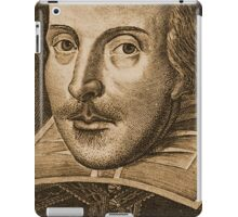 Shakespeare Droeshout Engraving Portrait iPad Case/Skin