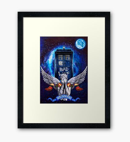 The Angel with time travel Box Framed Print