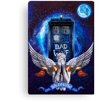 The Angel with time travel Box Canvas Print