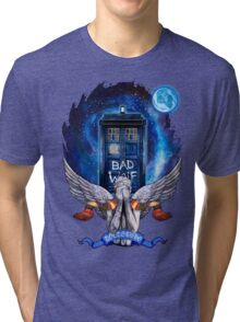 The Angel with time travel Box Tri-blend T-Shirt