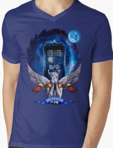 The Angel with time travel Box Mens V-Neck T-Shirt