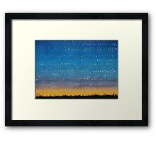 Western Stars original painting Framed Print
