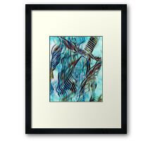 Abstract Waves in Blue by Laura L. Leatherwood Framed Print