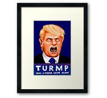 Dewald Turmp - Make A Merkin Grape Again! Framed Print