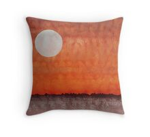 Moon over Mojave original painting Throw Pillow