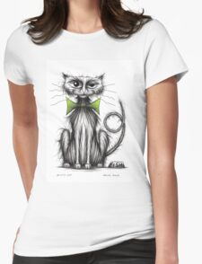 Kitty cat Womens Fitted T-Shirt