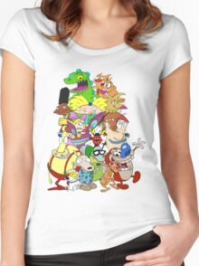 Nick Friends! Women's Fitted Scoop T-Shirt