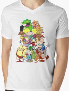 Nick Friends! Mens V-Neck T-Shirt