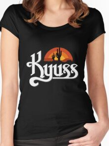Kyuss Logo Women's Fitted Scoop T-Shirt