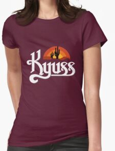 Kyuss Logo Womens Fitted T-Shirt