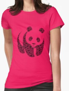 Panda 3 Womens Fitted T-Shirt