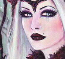 Broken dreams vampire woman by Renee Lavoie Sticker