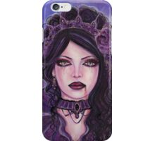 Gothic victorian vampire woman by Renee Lavoie iPhone Case/Skin