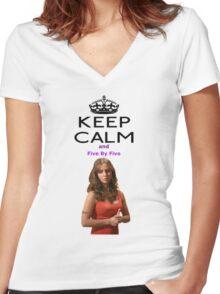 Buffy Faith Eliza Dushku Women's Fitted V-Neck T-Shirt