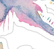Watercolor Jurassic (white)  Sticker