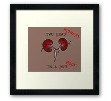 Two Kidneys in a Body (Cute vers.) Framed Print