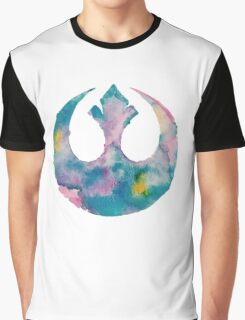 Watercolor Rebel Alliance (white) Graphic T-Shirt