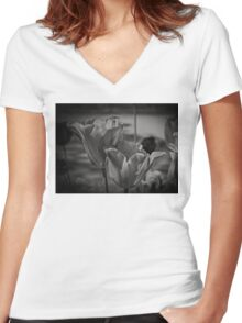 A Study of Tulips Women's Fitted V-Neck T-Shirt