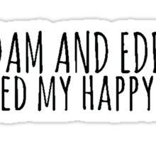 Adam and Eddie Destroyed My Happy Ending Design Sticker
