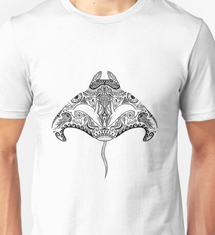 Tribal Manta Ray Unisex T-Shirt