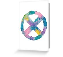 Watercolor X-Men (white)  Greeting Card
