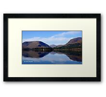 Mountain Reflection Framed Print