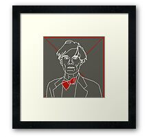 Andy Warhol red bow tie Framed Print