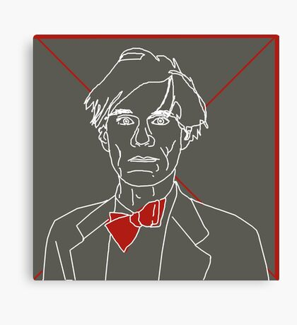 Andy Warhol red bow tie Canvas Print