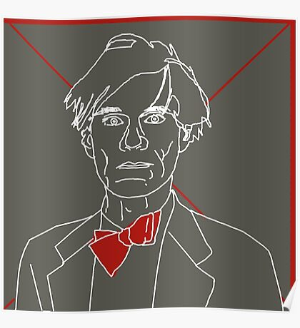 Andy Warhol red bow tie Poster