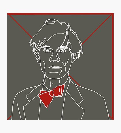 Andy Warhol red bow tie Photographic Print
