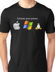 """Choose your poison"" - Dark Unisex T-Shirt"