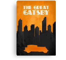 The Great Gatsby - Minimal Movie Poster. Canvas Print