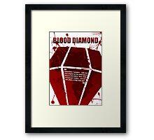 Blood Diamond - A Minimal Movie Poster. Framed Print