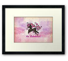 Be Fabulous Unicorn Chibi Framed Print