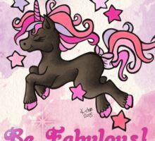 Be Fabulous Unicorn Chibi Sticker