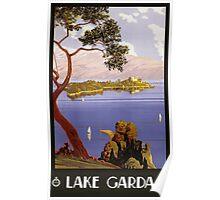 Lake Garda Italy Vintage Travel Poster Poster