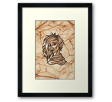 Fantasy Orc Woman Portrait Framed Print