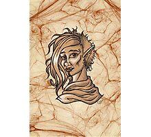 Fantasy Orc Woman Portrait Photographic Print