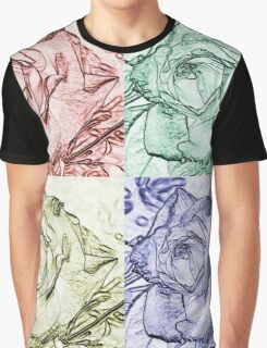 Rose Square  Graphic T-Shirt