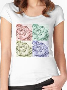 Rose Square  Women's Fitted Scoop T-Shirt