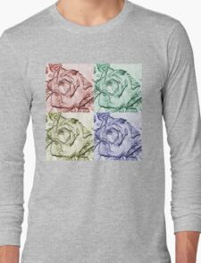 Rose Square  Long Sleeve T-Shirt