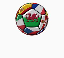 Soccer ball with flag of Wales in the center Unisex T-Shirt
