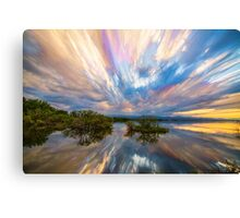 Sunset  Lake Reflections Timed Stack Canvas Print