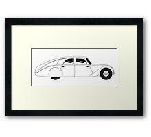 Sedan - vintage model of car Framed Print