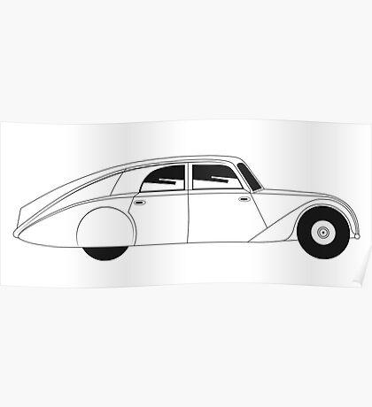 Sedan - vintage model of car Poster