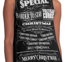 Politically Correct or Incorrect Black Chalkboard Typography  Christmas - I Contrast Tank